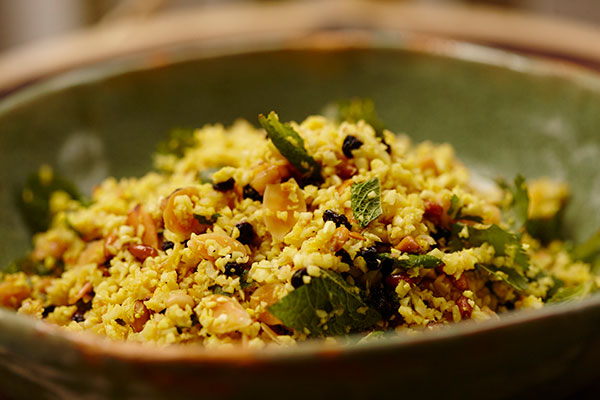 Indian Roasted CauliRice Salad - Zest Byron Bay