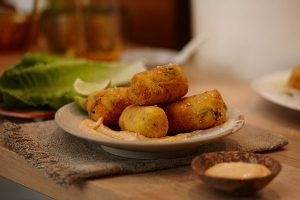 Sri Lankan Flavoured Smoked Trout Croquettes - Zest Byron Bay