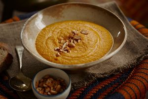 Warming Rogan Roast Carrot and Cashew Soup - Zest Byron Bay